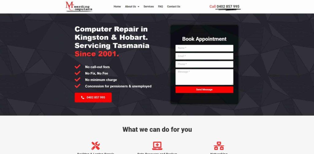 Meerding Computers Website